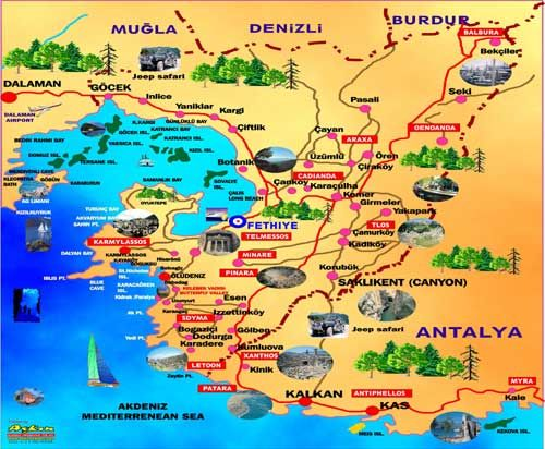 map of ovacik turkey | Kayakoy is not a far place from Fethiye. It's just 5 minutes from ...