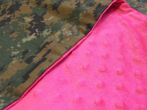 Bling Marine Corps Digital Woodland Camo Blanket