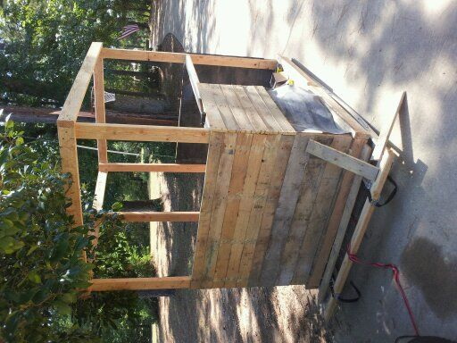 36 best deer box stands images on pinterest deer hunting for Deer stand made from pallets