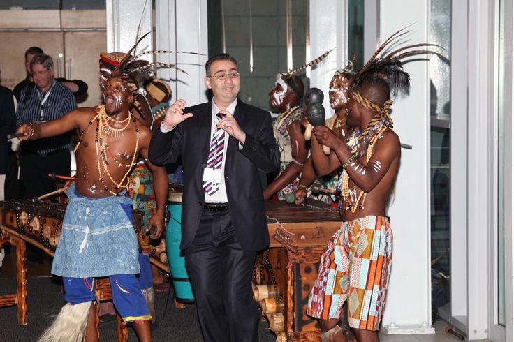 UFI Congress Client enjoys the marimba band CTICC Cape Town