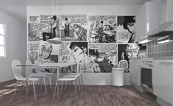 Somewhere, somehow, I want a comic book wall. Maybe something with Batman. Or The Watchmen.
