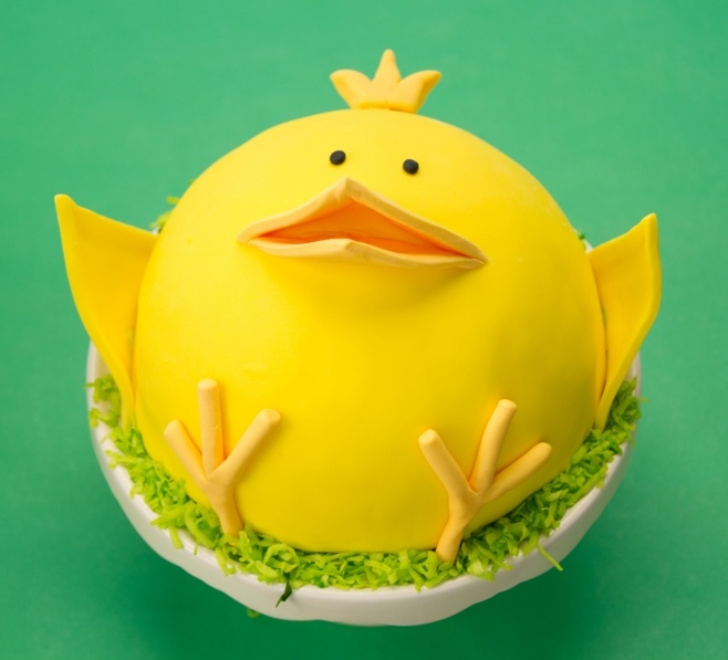 Funny Spring Chick Easter Cake