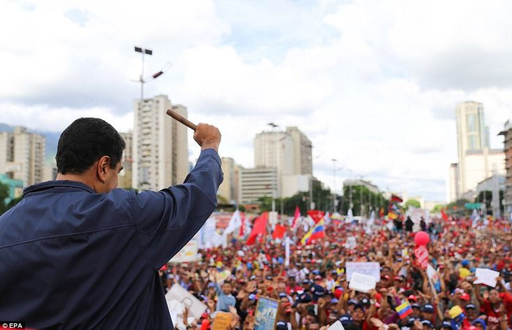 The President's move echoes that of his predecessor, Hugo Chavez, except that Chavez was a wildly popular leader - while Maduro enjoys less than 30 per cent support according to polls