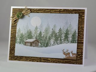Log cabin card.