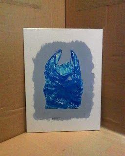 Massimo Capogna - Artist:  Busta azzurra.  Penne staedtler ball 432 su carto...