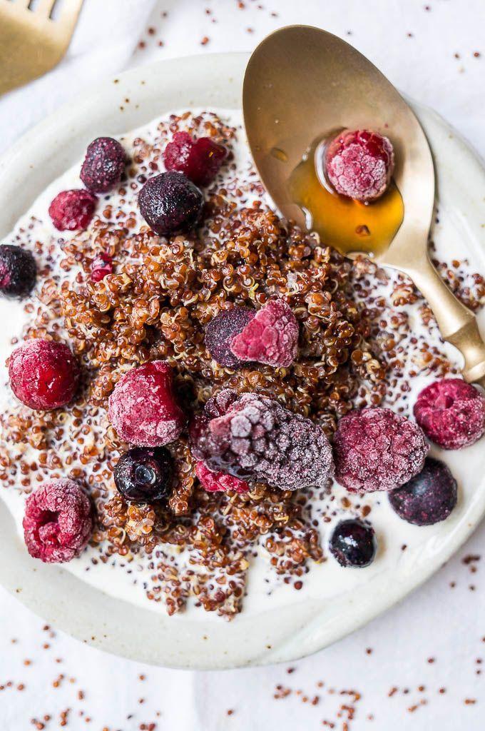 Pressure Cooker Buttery Berry Breakfast Quinoa Recipe