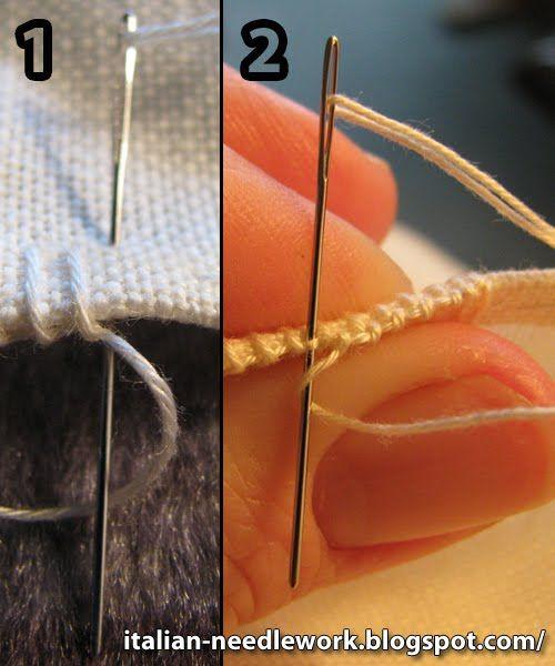 Italiani Needlework: Punto Umbro  punto avorio