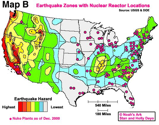 Potential Nuclear Targets in America Map httpwww