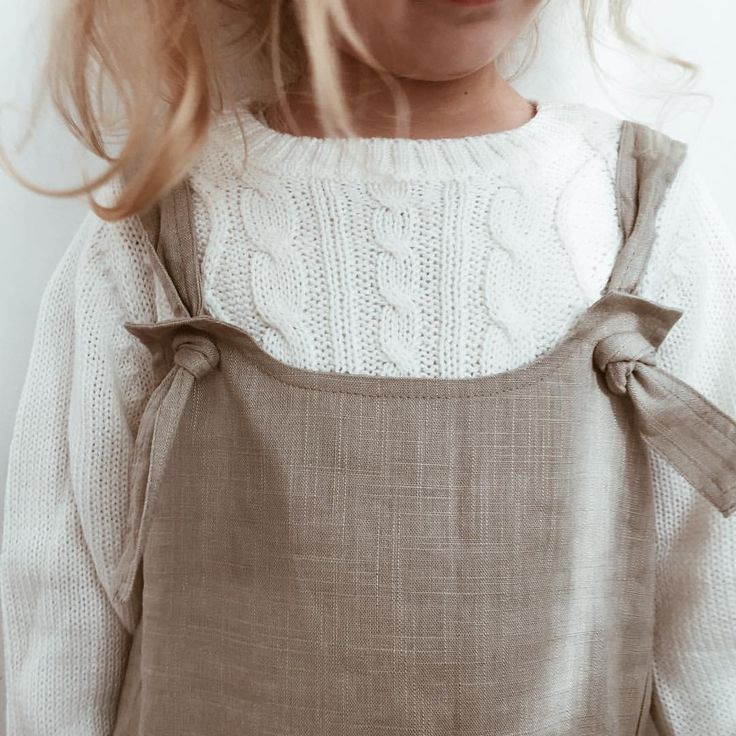 """213 Likes, 13 Comments - THE WORN COLLECTIVE (@theworncollective) on Instagram: """"Happy Saturday all ✌✨ Ruby is wearing her Little Linen Dress layered with a chunky knit for this…"""""""
