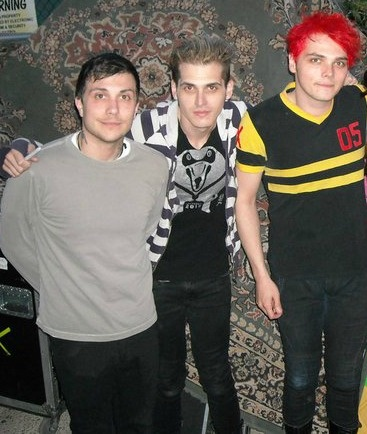 Frank Iero, Mikey Way, and Gerard Way, My Chemical Romance.