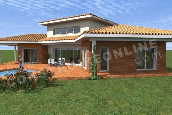 plan maison moderne terrasse TRIPODE