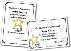 Certificate Templates - printable certificates and award templates