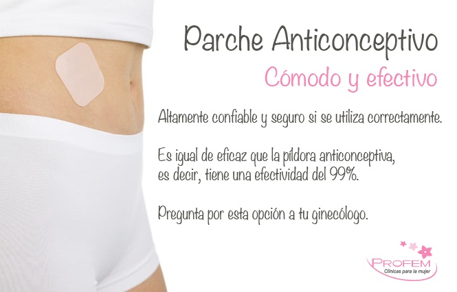 Parche anticonceptivo. Cómodo y efectivo.  http://www.profemplatinum.com.mx/