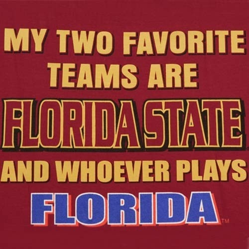 Florida State Seminoles (FSU) Garnet Favorite Teams T-shirt