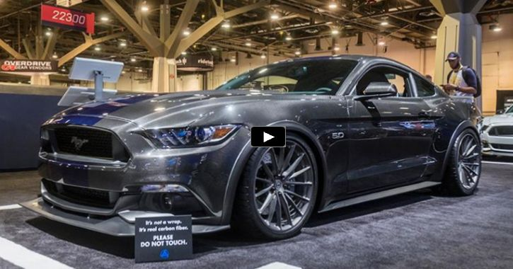 Carbon Fiber Ford Mustang Supercar at SEMA 2016