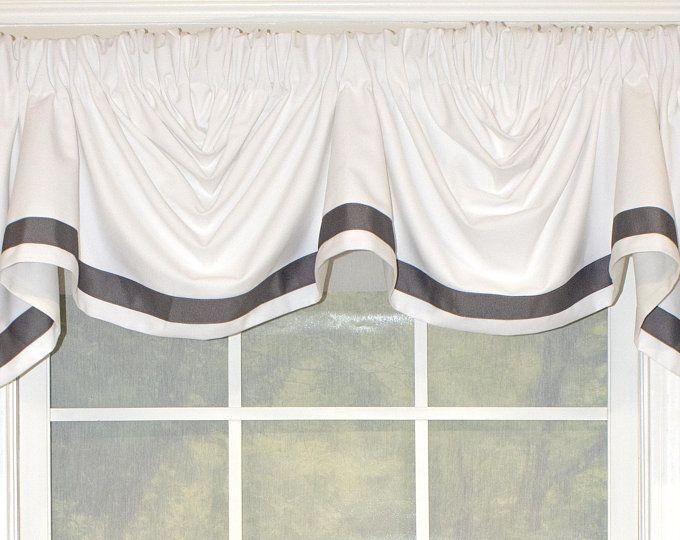 Buffalo Check Tab Flounce Valance Panel Or Pillow Etsy Valance Window Treatment Styles Custom Window Treatments