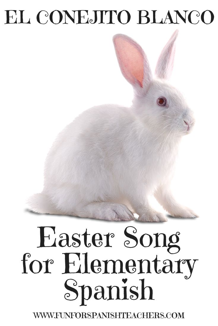 his is a fun song that will get everyone in your class moving. Visit the blog to listen to the song and download free teaching resources for Spanish class. #easter #conejitodepascua #elementarySpanish