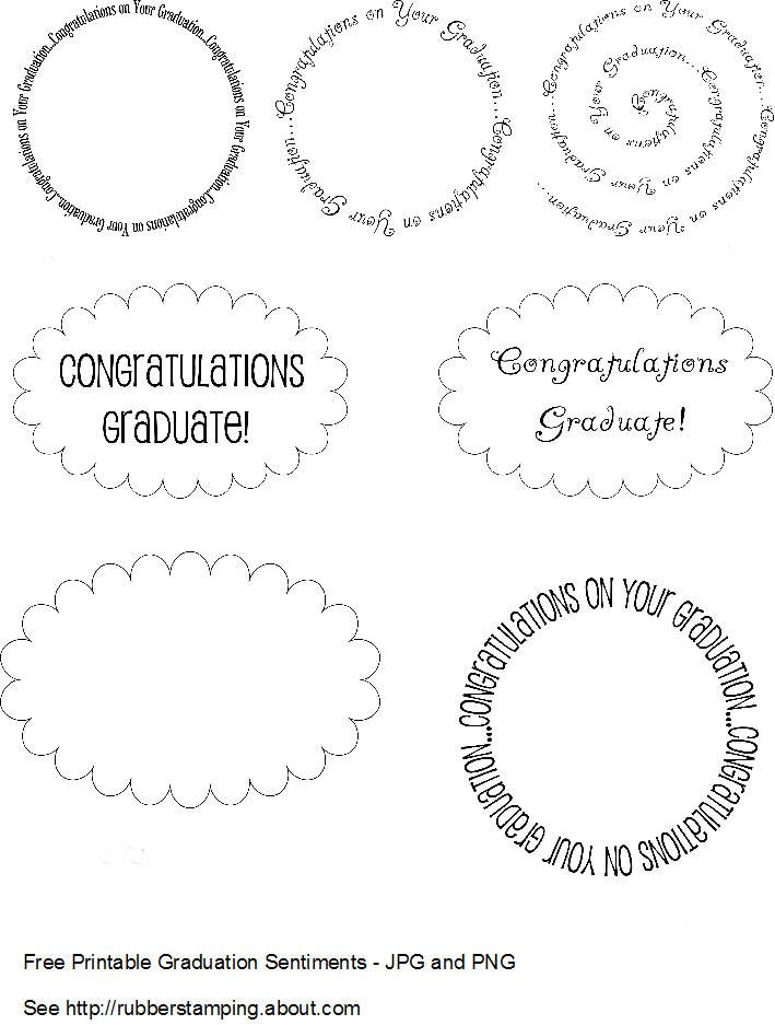 111 best graduation free printable and more images on pinterest free printable graduation sentiments negle Images