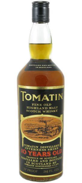 Tomatin 10 yo Fine Old Highland Malt Scotch whisky - official bottling from 80's