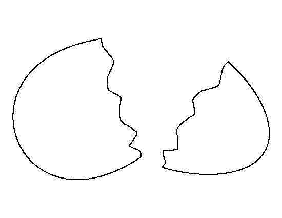 Broken egg pattern. Use the printable outline for crafts ...