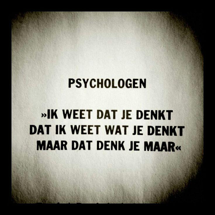 Psychologie heb ik gestudeerd