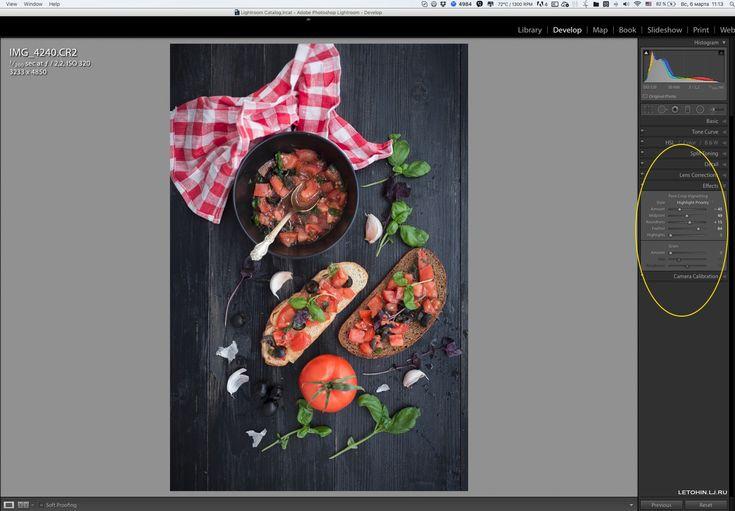 Как фотографировать и обрабатывать еду.