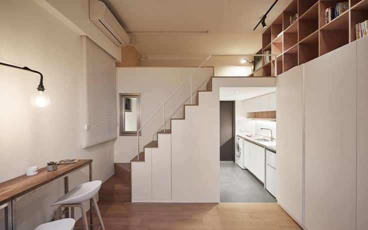 Gallery of 22m2 Apartment in Taiwan / A Little Design - 2 http://www.archdaily.com/790542/22m2-apartment-in-taiwan-a-little-design