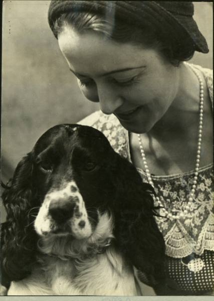 A lady and her devoted #spaniel. LIFE Magazine Archives