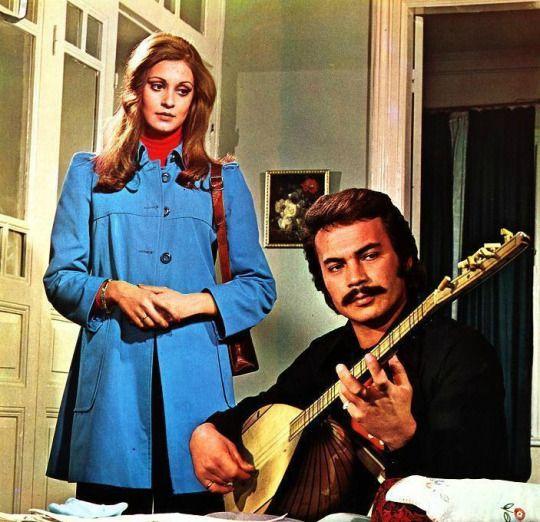 ✿ ❤ Necla Nazır & Orhan Gencebay ~ Ben Doğarken Ölmüşüm filminde, 1973