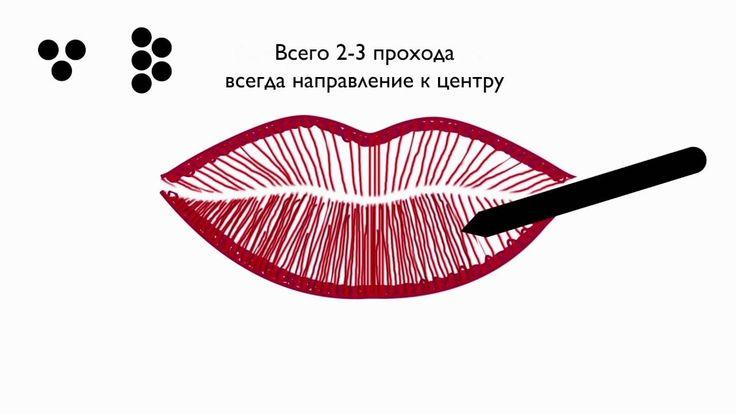 Как делать перманентный макияж губ