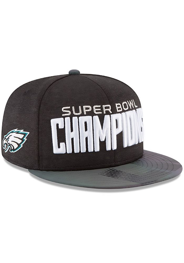 New Era Philadelphia Eagles Black 2018 SB LII Champion Parade 9FIFTY Mens  Snapback Hat 5837886f0