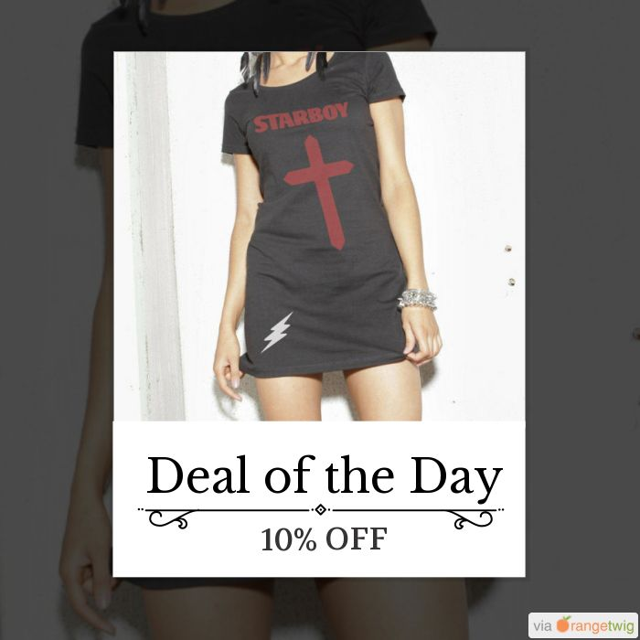 Today Only! 10% OFF this item.  Follow us on Pinterest to be the first to see our exciting Daily Deals. Today's Product: Sale -  The Weeknd STARBOY - Long T-shirt, Tshirt Dress - The Weeknd, Starboy, Cross, Tee, Starboy T-Shirt, Star Boy T-Shirt, The Weeknd T-s Buy now: https://www.etsy.com/listing/503392296?utm_source=Pinterest&utm_medium=Orangetwig_Marketing&utm_campaign=DAYDEAL #etsy #etsyseller #etsyshop #etsylove #etsyfinds #etsygifts #musthave #loveit #instacool #shop #shopping…