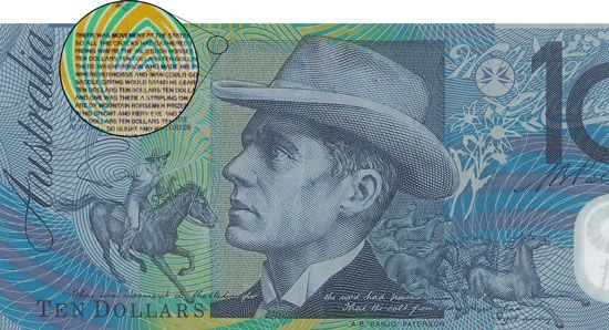 Banjo Paterson is Australia's most famous poet; he is held in such high regard that his face, and the words of his most famous poem, The Man from Snowy River, appear on the Australian $10 note.