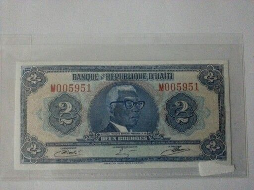 Old #Haiti #Bank#note. Not commonly seen.