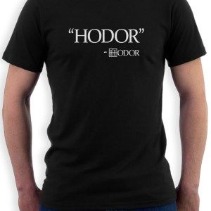 Hodor-Quote-T-Shirt-Thrones-Inspired-Crows-Winter-Snow-cult-Fan-Short-Sleeve-Tee-More-Size #gameofthrones
