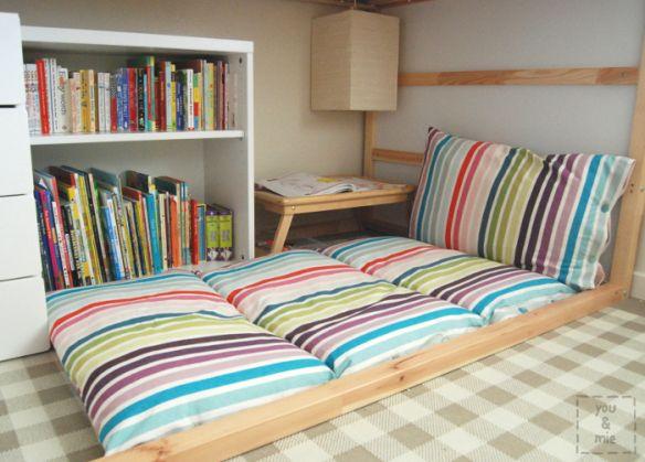 Floor Cushion From Pillows (aka pillow mattress) http://youandmie.com/2014/02/20/folding-floor-cushion-tutorial/
