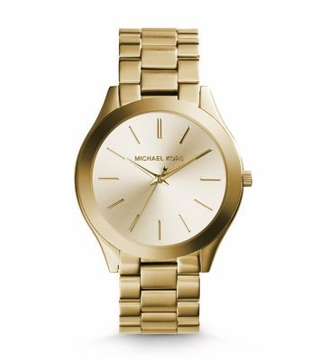 A perennial favorite, our iconic Runway watch gets a slim update just in time for the holidays. We love how the sleek, understated dial reads modern, and in gold-tone stainless steel, easily adds a gilded touch to your favorite looks. Stack it with an arm full of gold jewelry for your off-duty days, or slip it on as its own standout piece when you're headed to the office.