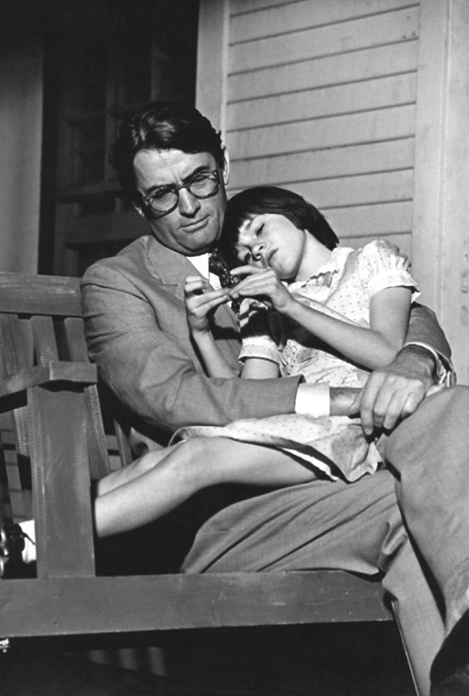 "To Kill a Mockingbird"" Gregrory Peck, Mary Badham (1962) 