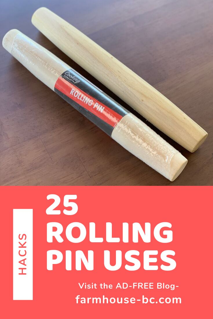 25 ways to use a dollar tree rolling pin other than baking