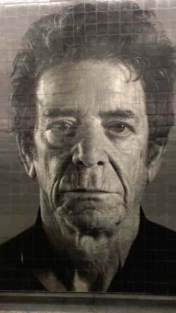 "Portrait of Lou Reed. Chuck Close.""86th Street"" station. NYC (Чак Клоуз. Портрет Лу Ріда. Станція метро ""86th Street"". Нью-Йорк)"