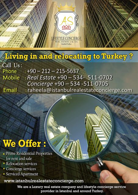 AS Lifestyle Concierge and Real Estate Services Ltd. Sti.: Living in and relocating to Turkey?? Call us now!!...