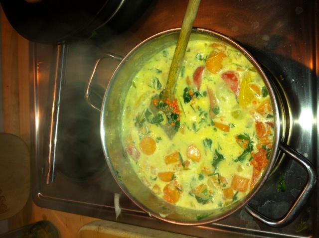 Gemüse Kokus Curry hmm lecker