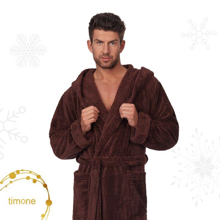 Timone hooded bathrobe - soft & fluffy. Made in the EU! #timone #timonefashion