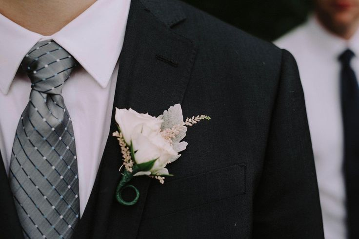 Chelsea + Tyler | Boutonniere by @AuroraFloraOH | Photo by Rosey Red Photography http://roseyredphotography.com/
