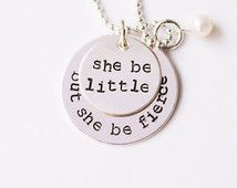Shakespeare Quote Necklace, Teen Girl Necklace, Necklace For Teen, Teen Necklace, Jewelry for Teenage Girls, Teenage Girl Gift, Fierce Girl