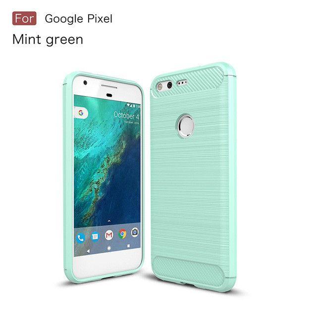 Hybrid Armor Carbon Fiber Texture Phone Case for Google Pixel Nexus S1 HTC Nexus Sailfish