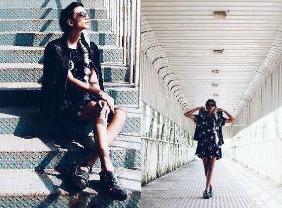 More looks by Rhea Gupte: http://lb.nu/thegirlfromfuss  #casual #grunge #street #sunandmoon #motelrocks #blackandwhite #fuss