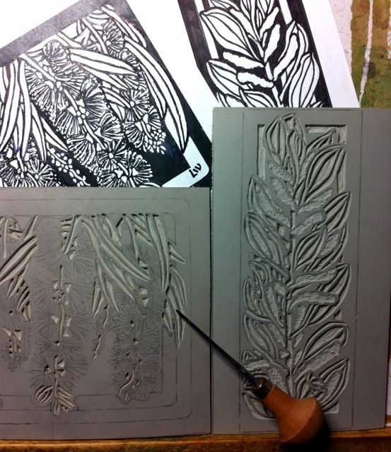 Excellent website for linocuts, excellent images of steps this artist takes to…