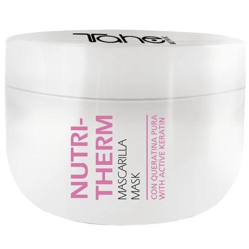 Tahe Botanic Nutritherm Mask 300ml Μάσκα με μαλακτική και θρεπτική δράση χάρη στην αγνή κερατίνη και τα φυτικά μητρικά κύτταρα που περιέχει.