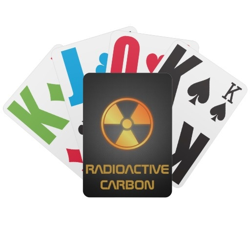 radioactive carbon fiber bicycle playing card by BannedWare